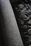 detalle columna catedral santiago compostela